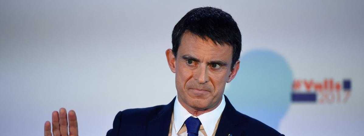 Manuel Valls, le 22 janvier 2017, à Paris.