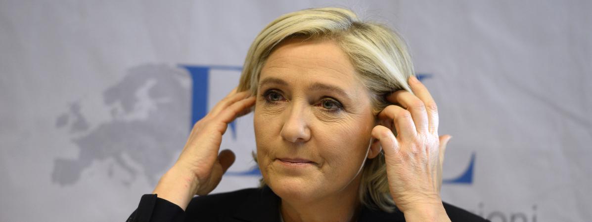 Après l\'élection de Donald Trump, des trollssoutiennent Marine Le Pen. Ici, le 21 janvier 2017 à Koblenz.