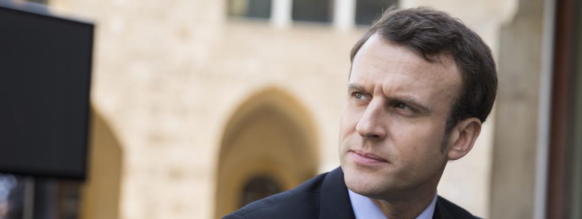 Le candidat à la présidentielle Emmanuel Macron, à Beyrouth (Liban), le 24 janvier 2017.