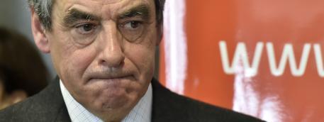 Le candidat des Républicains à la présidentielle François Fillon le 25 janvier 2017 lors d\'une visite à Bordeaux (Gironde).