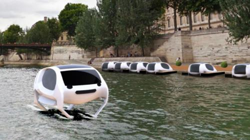 Paris : des taxis volants sur la Seine