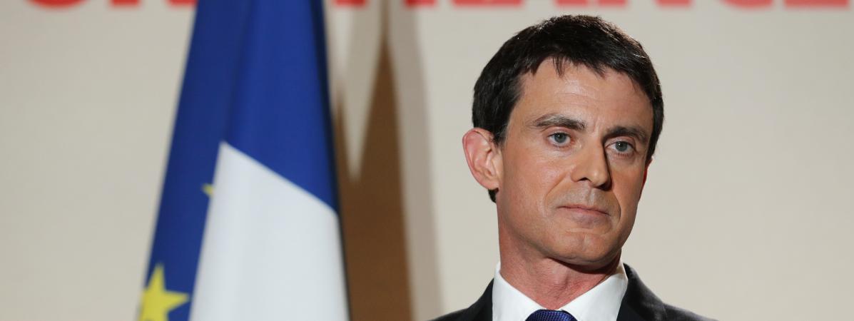 Manuel Valls, le 29 janvier 2017 à Paris, après le second tour de la primaire de la gauche.