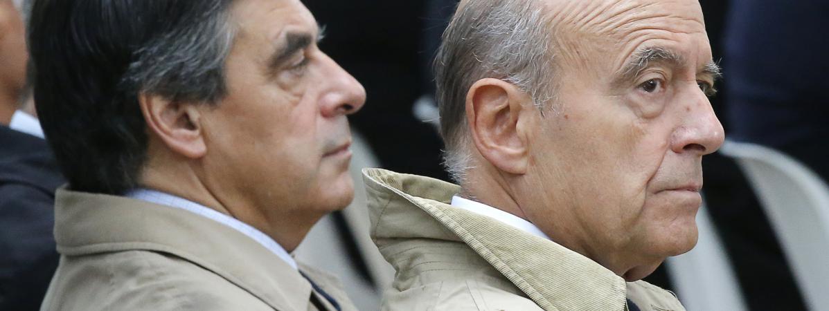 François Fillon et Alain Juppé, le 19 septembre 2016.