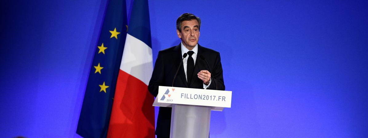 François Fillon lors d\'une conférence de presse, à Paris, le 6 février 2017.
