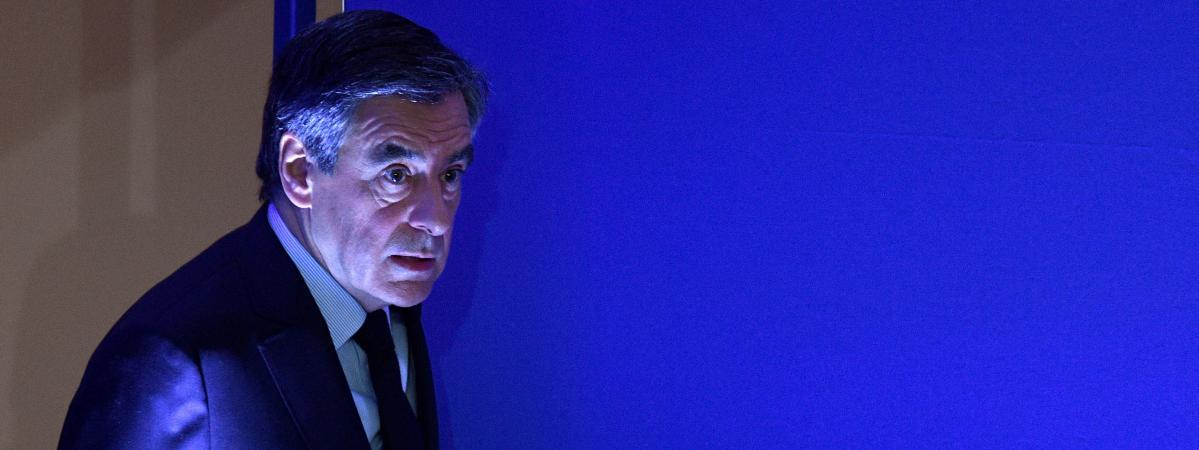 François Fillon, le 6 février 2017, à son QG de campagne à Paris, lors d\'une conférence de presse.