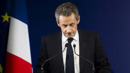 Nicolas Sarkozy au soir de sa défaite au premier tour de la primaire de la droite, le 20 novembre 2016 à Paris.