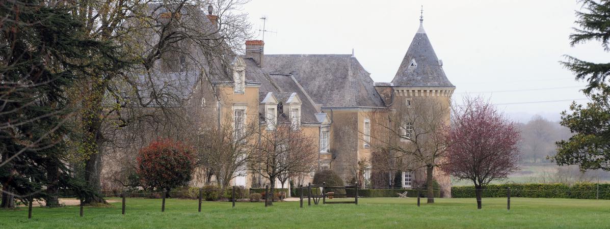 Le manoir de Beaucé, propriété de François Fillon, à Solesmes, près de Sablé-sur-Sarthe, le 10 avril 2013.