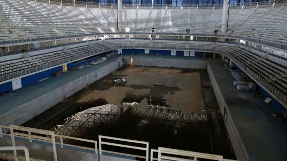 Le bassin de natationutilisé pour les Jeux olympiques de Rio, le 5 février 2017.