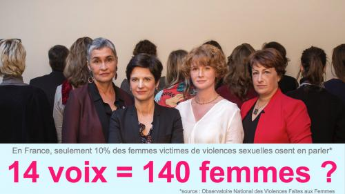 Les accusatrices de Baupin posent contre les violences sexuelles
