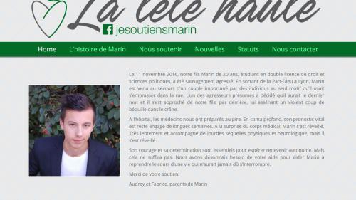 La mère de Marin, tabassé pour avoir défendu un couple, lance un appel au dons