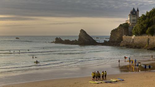 La Côte des Basques à Biarritz désignée plus belle plage de France par TripAdvisor