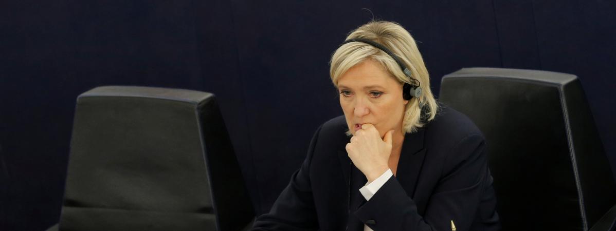 Marine Le Pen, au Parlement européen de Strasbourg (Bas-Rhin), le 5 juillet 2016.