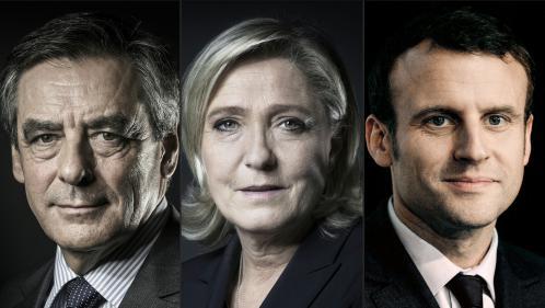 Présidentielle : Fillon et Macron au coude-à-coude, derrière Le Pen, selon un sondage Harris Interactive pour France Télévisions