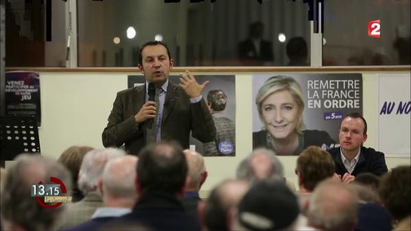 """VIDEO. """"13h15"""". """"Marine Le Pen défend le SLIP"""", selon l'élu Sébastien Chenu, soutien de la présidente du Front national"""
