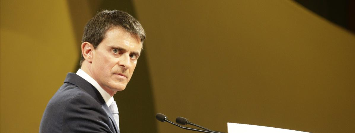 Manuel Valls, le 26 janvier 2017 àAlfortville (Alfortville).