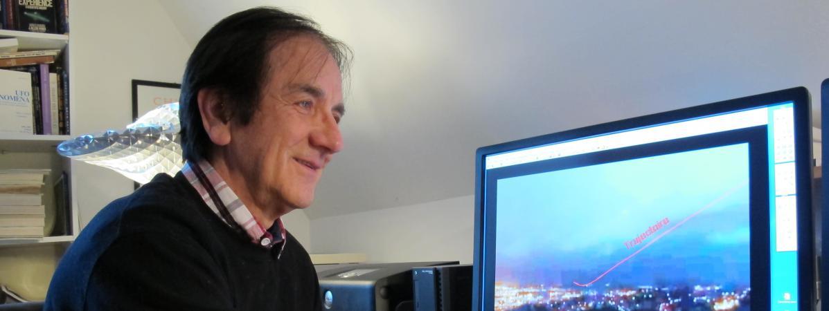François Louange, le 27 février 2017 au Fresne (Eure). Cet ingénieur a développé un logiciel pour analyser les photos François Louange.