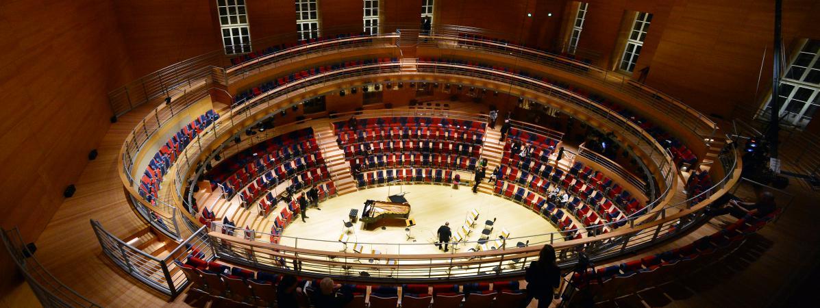 musique une nouvelle salle 224 berlin pour quot 234 tre assis comme 224 l int 233 rieur d un instrument quot