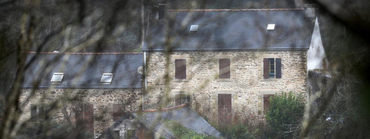 La ferme de Pont-de-Buis (Finistère), où vivaient Hubert Caouissin et Lydie Troadec, le 7 mars 2017.