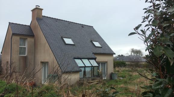 La maison d\'Hubert Caouissin à Plougarneau (Finistère), le 7 mars 2017.
