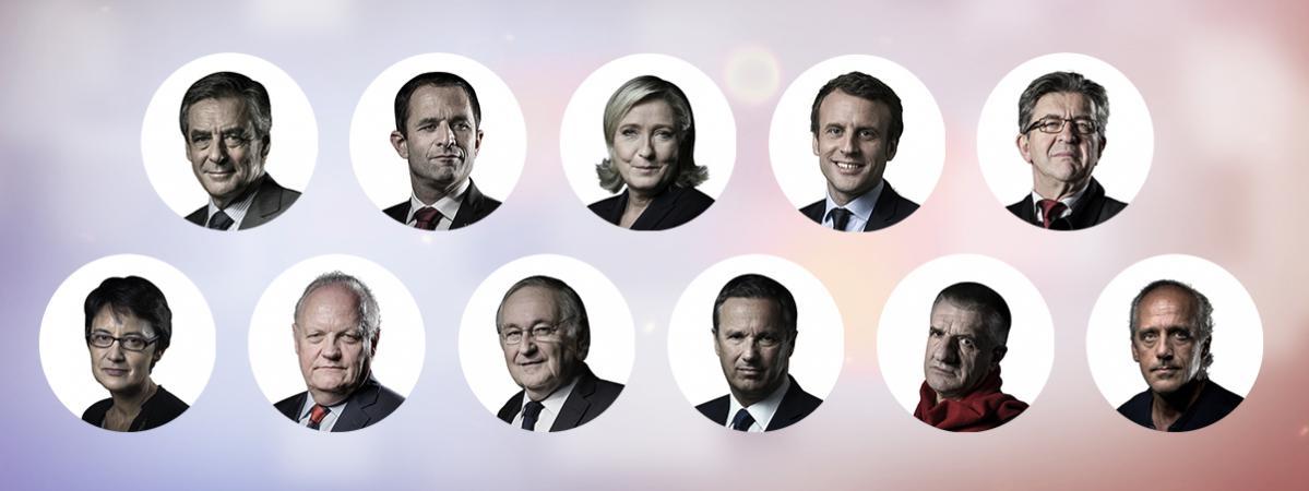 Résultat d'images pour les 11 candidats a la presidentielle