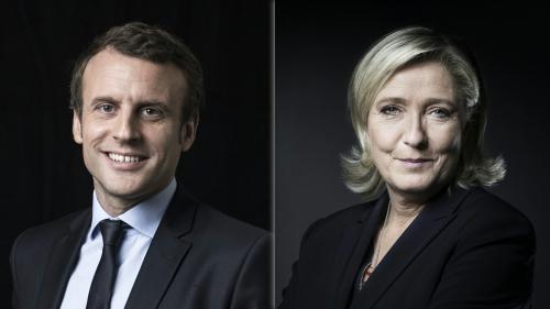Présidentielle : à un mois du scrutin, la perspective d'un duel Macron-Le Pen se confirme, selon un sondage Harris Interactive pour France Télévisions