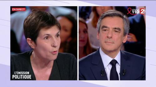 """VIDEO. Violent clash entre François Fillon et la romancière Christine Angot sur le plateau de """"L'Emission politique"""""""