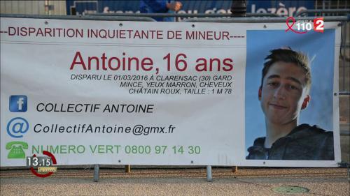 """VIDEO. """"13h15"""". Tout faire pour résoudre la disparition d'Antoine en 2016 dans le Gard"""