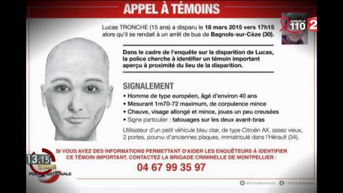 """VIDEO. """"13h15"""". Une piste pour retrouver Lucas, disparu en 2015 dans le Gard ?"""