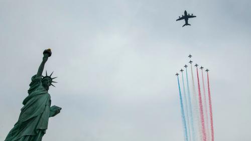 EN IMAGES. La Patrouille de France survole New York et la statue de la Liberté