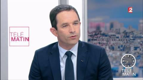 """4 Vérités - Hamon ne croit pas Macron """"capable d'être juste avec les Français"""""""