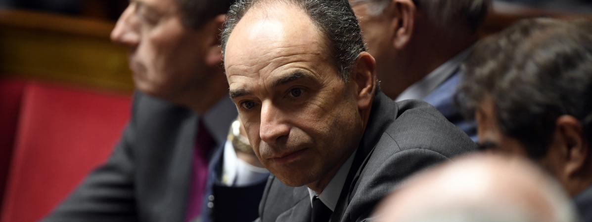 Le député-maire de Meaux (Seine-et-Marne), Jean-François Copé, lors d\'une session de questions au gouvernement à l\'Assemblée nationale, le 24 janvier 2017.
