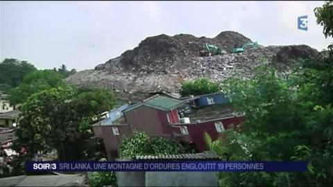 sri lanka une montagne d 39 ordures engloutit 19 personnes. Black Bedroom Furniture Sets. Home Design Ideas