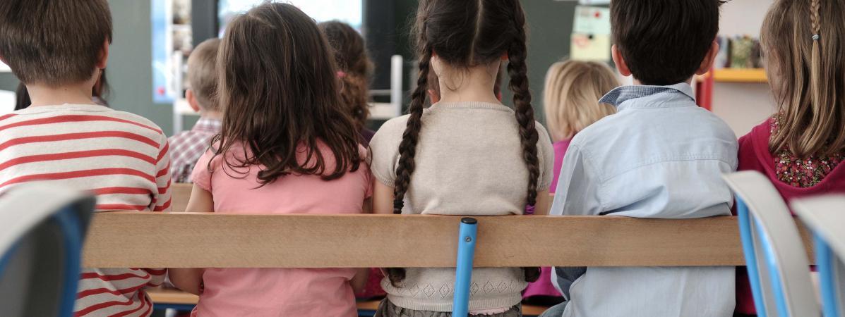 Des enfants à l\'école maternelle, à Lyon en 2013 (illustration).