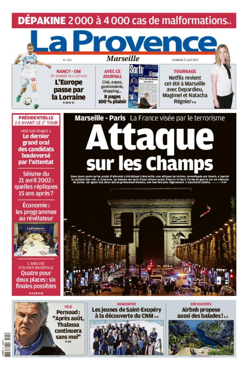 En images le terrorisme frappe nouveau paris la une des jour - Le journal de la provence ...