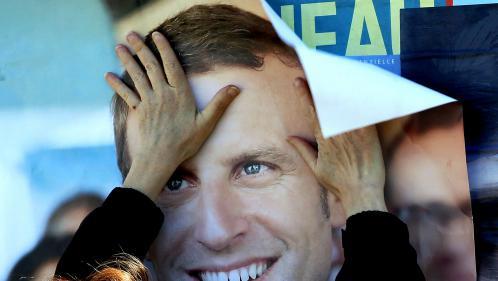 """VIDEO. """"Candidat-Plexiglas"""", """"bébé Hollande"""", """"candidat de Bruxelles""""… Emmanuel Macron vu par Marine Le Pen"""