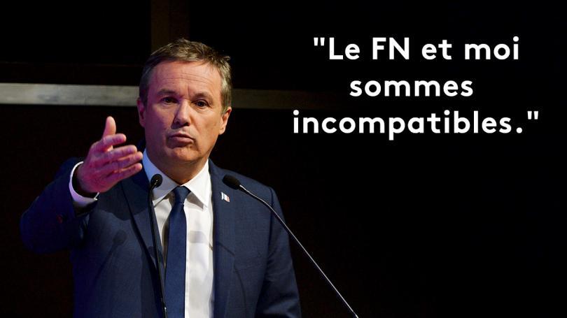 """EN IMAGES. """"Allié du système"""", """"pas apte à gouverner""""... Quand Dupont-Aignan ne voulait pas entendre parler du FN"""