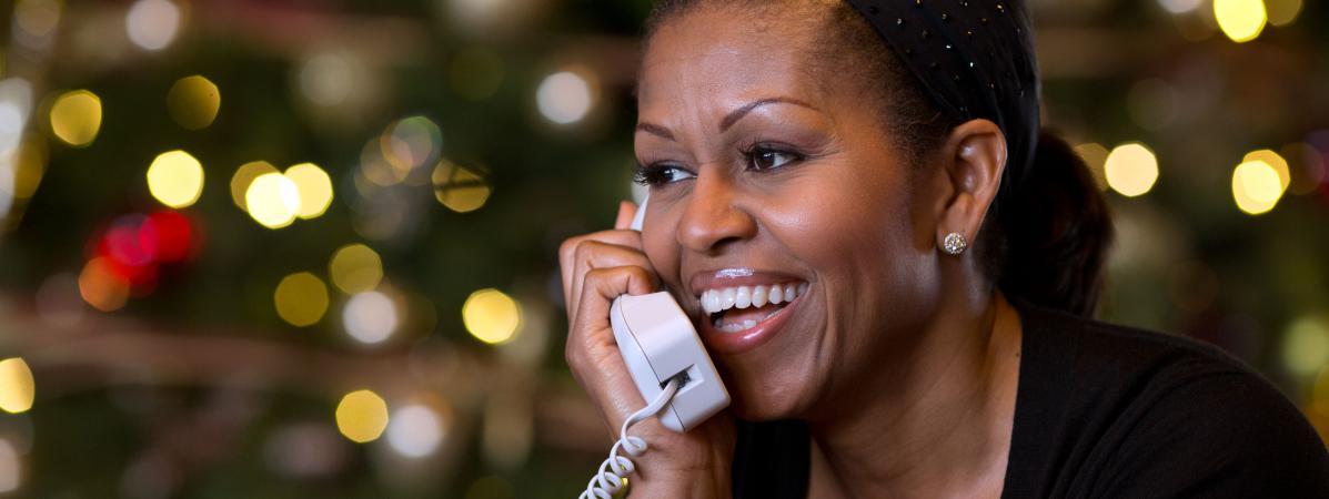 Michelle obama tweete un num ro de t l phone par erreur for A la maison pour noel streaming