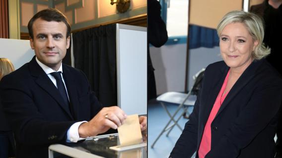 Video pr sidentielle emmanuel macron vote au touquet for Au bureau henin beaumont