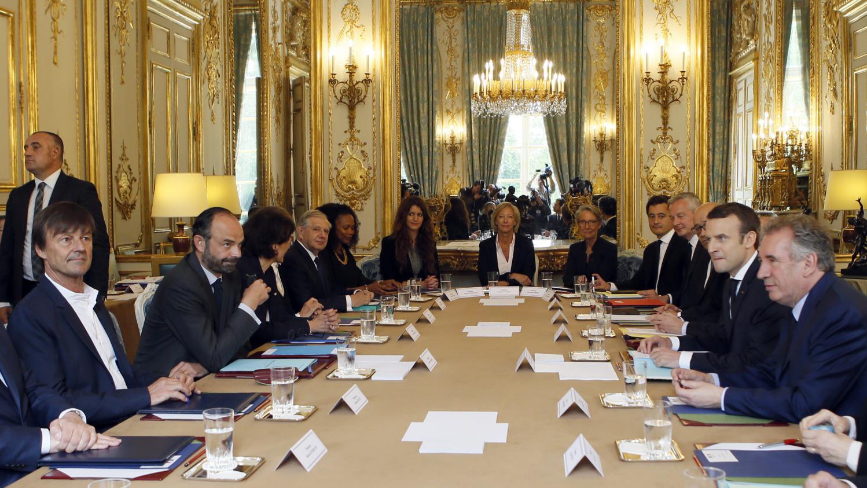 gouvernement macron   premier conseil des ministres
