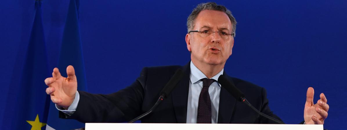 Richard Ferrand, le 11 mai 2017, au siège de La République en marche,à Paris, lors de la présentation des candidats du mouvement aux législatives.