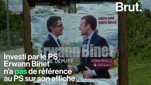 Législatives: difficile de trouver les candidats socialistes sur les affiches