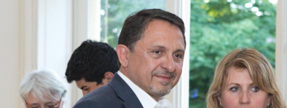 Le député Didier Martin, le 11 juin 2017 à Dijon (Côte d\'Or).