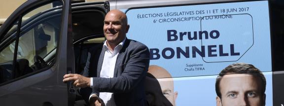 Le député Bruno Bonnell, le 8 juin 2017 à Villeurbanne (Rhône).