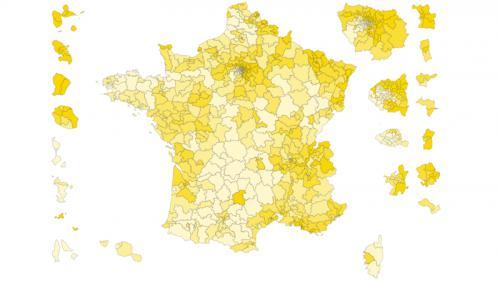 CARTE. Législatives : la France de l'abstention au second tour