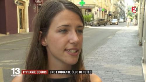 Typhanie Degois, une étudiante élue députée