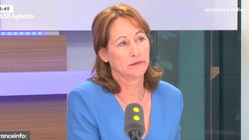 """VIDEO. L'avenir de l'appareil du Parti socialiste """"indiffère"""" l'ancienne ministre de l'Environnement Ségolène Royal"""