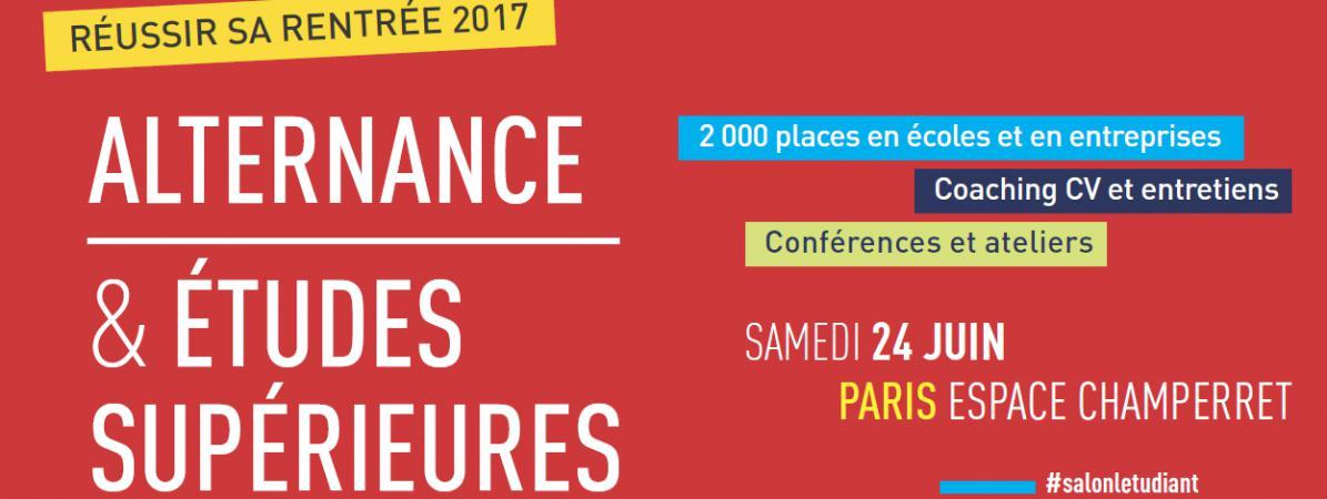 Ev nement salon de l etudiant alternance et tudes for Salon alternance 2017
