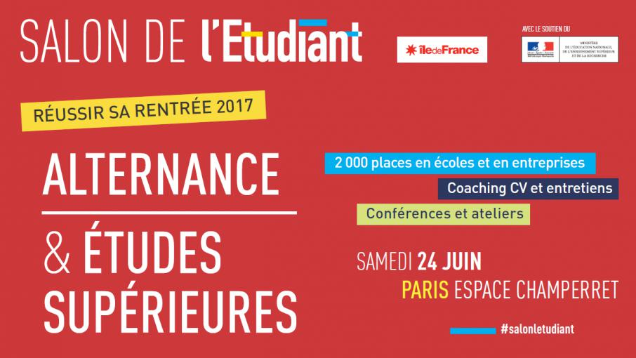 Ev nement salon de l etudiant alternance et tudes for Porte de champerret salon de l etudiant
