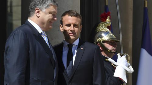 """VIDEO. La France """"ne reconnaîtra pas l'annexion de la Crimée"""", affirme Emmanuel Macron"""