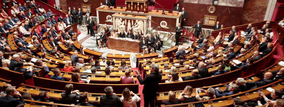 Le président du groupe La France insoumise à l\'Assemblée nationale, Jean-Luc Mélenchon, le 28 juin 2017.